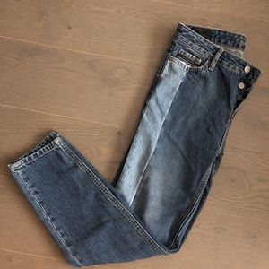Size 26 CK Ankle Straight Jeans Blue